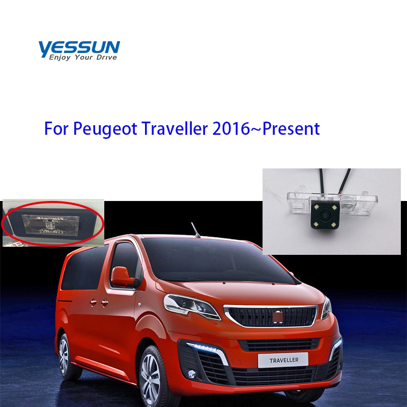 Yessun Auto Car Accessories License Plate Camera Car Rear View Reverse Backup Camera Waterproof For Peugeot Traveller 2016~Prese