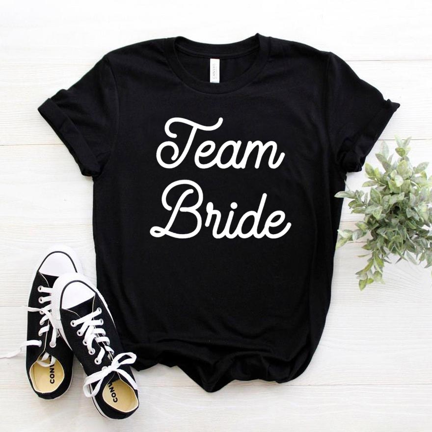 Team Bride Print <font><b>Women</b></font> tshirt <font><b>Cotton</b></font> Casual Funny t <font><b>shirt</b></font> For Yong Lady Girl Top Tee Hipster Drop Ship NA-399 image