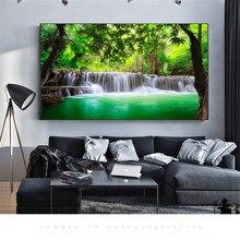 Декор для дома холст Плакаты домашний Декор Пейзаж натуральный картины с изображением водопада Wall Art пейзаж водопада модульный Гостиная