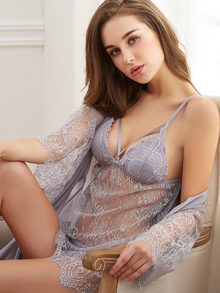 <font><b>Sexy</b></font> Costumes European American <font><b>Lingerie</b></font> <font><b>Transparente</b></font> Lace Summer Nightdress 2020 Woman Night G-string <font><b>Sexy</b></font> Underwear <font><b>Babydoll</b></font> image