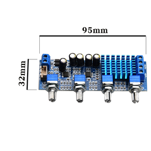 Image 3 - HIFIDIY TPA3116 2.0 amplificateur carte voiture numérique Audio amplificateur 50W * 2 TPA3116 maison aigus milieu basse ajuster pour haut parleur A2.0 4P