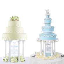 4Pcs/Set DIY Plastic Roman style Cake Pillar Baking Decoration Supplies Wedding decoration