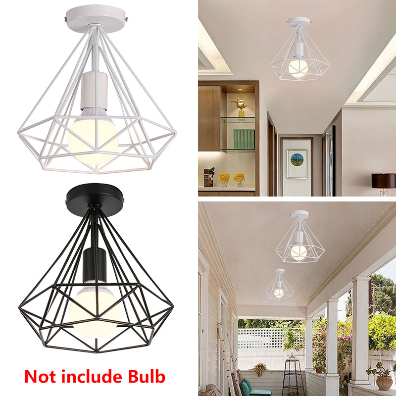 E27 Metal Ceiling Lights Black Retro Dinning Room Bedroom HangLamp Iron Ceiling Lights Fashion Scandinavian Chandelier