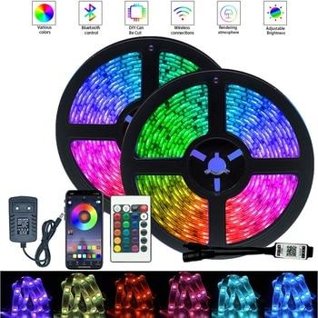 5050 LED Strip Light Bluetooth Controller Waterproof Background Night light Decoration Ribbon Flexible Strips Lamp Decor String