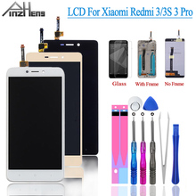 PINZHENG AAAA Original LCD For Xiaomi Redmi 3S/3 Pro Display Touch Screen Frame Replacement LCD For Xiaomi Redmi 3S 3 Pro Screen цена 2017