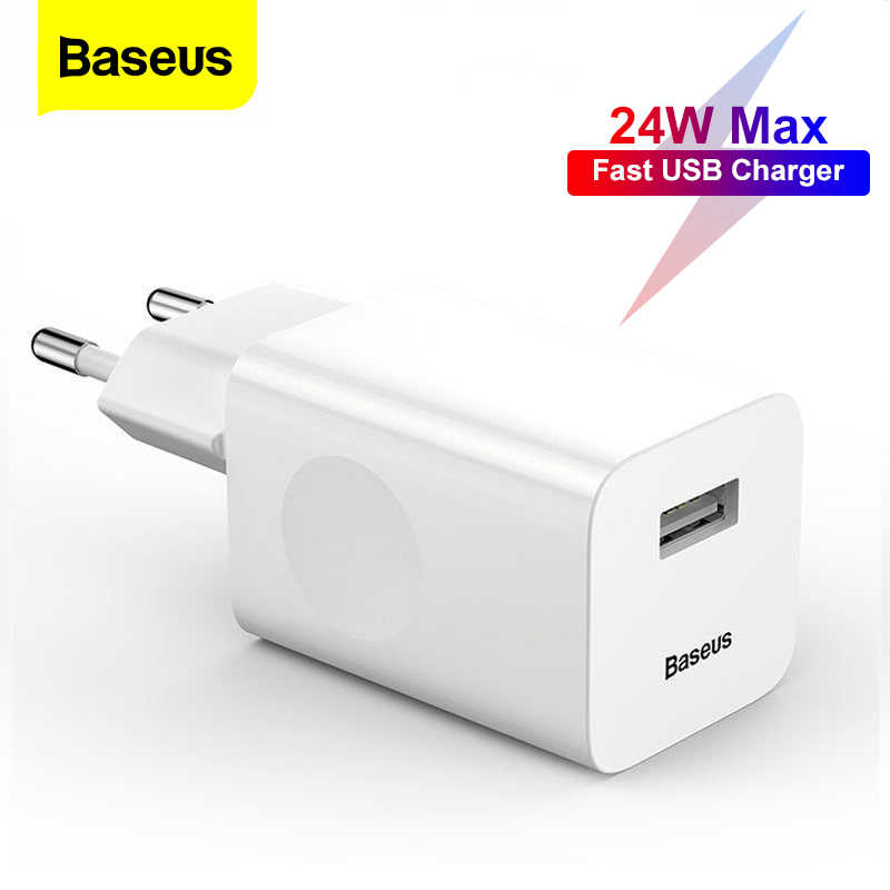 Baseus 24W Quick Charge 3.0 Usb Oplader Voor Samsung Xiaomi Huawei Snel Opladen Qc 3.0 Reizen Mobiele Telefoon Oplader eu Us Plug