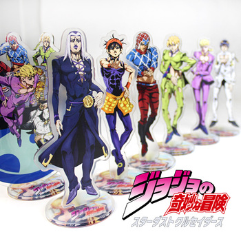 Japanese anime 16CM Anime Jojo Bizarre Adventure Cosplay Prop Accessories Acrylic Desk Stand Figure Model