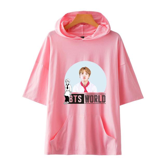 BTS WORLD SHORT SLEEVE HOODIE (20 VARIAN)