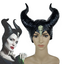 цена на Maleficent: Mistress of Evil Headwear Mask Cosplay Black Queen Masks Witch Horns Halloween Masquerade Party Props