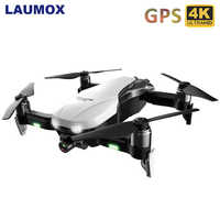 LAUMOX F8 GPS Drone with 4K Camera Two-Axis Anti-Shake Self-Stabilizing Gimbal WiFi FPV Brushless Quadrocopter VS Zen K1