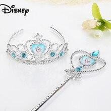 Elsa princesa crianças brinquedos festa de aniversário presente coroa congelado 2 bebê vara mágica bandana cosplay sofia meninas acessórios para o cabelo
