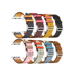 2021 Colorful Leather loop for Apple Watch Band Series 6/SE/3/2/1 Sport Bracelet 42mm 38mm Strap for iwatch 4/5 Band 40mm 44mm