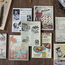 60 folhas/lote bloco de notas pegajosas tempo de volta papel lixo jornal scrapbooking adesivos escritório escola papelaria