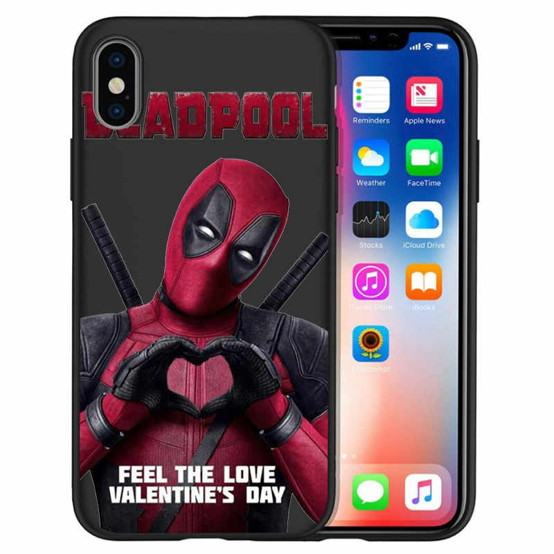 Для iPhone X XR XS Max 5 5S SE 6 6S 7 8 One Plus 5 5T 7 Pro Oneplus 6 6Tphone чехол для телефона Funda Coque Etui Marvel Deadpool