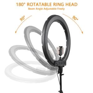 Image 3 - capsaver RL 18 LED Ring Light 18 inch Makeup Lamp with Tripod Mirror High CRI LED 5500K Camera Photo Youtuber Studio Video Lamp