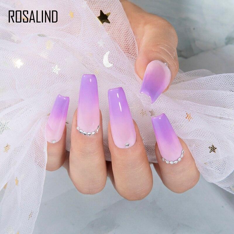 Розалинд лак для ногтей Гель-лак Гибридный Vernis 7 мл био-Гели Soak Off ногтей дизайн! Полупостоянная Гель-лак чистый Цвета все для маникюра 4