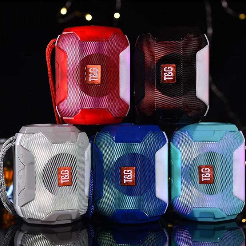 Автономный bluetooth-динамик Мини Портативный Красочный светодиодный беспроводной bluetooth-динамик наружный аудио музыкальный плеер TF FM