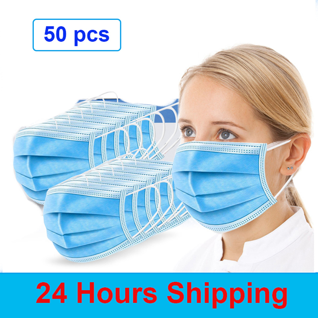 Face Mouth Anti Dust Mask Disposable Protect 3 Layers Filter Masks (not KN95 ) Mouth-muffle Bacteria Proof Flu Mask