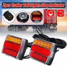 Пара 12V Магнитный светодиодный задний фонарь грузовик светильник заднего номерного знака светильник Предупреждение фонарь стоп-сигнал для...