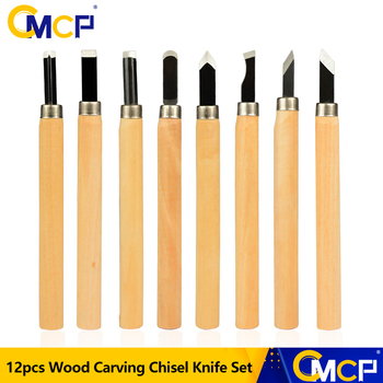 CMCP 12pcs Wood Carving Chisel Knife Set For Detailed Woodworking Gouges Hand Tools Wood Carving Tools 6 pcs set hand carving tools chisel woodcut chip part costume for art knife seal cutting wood working tool free shipping
