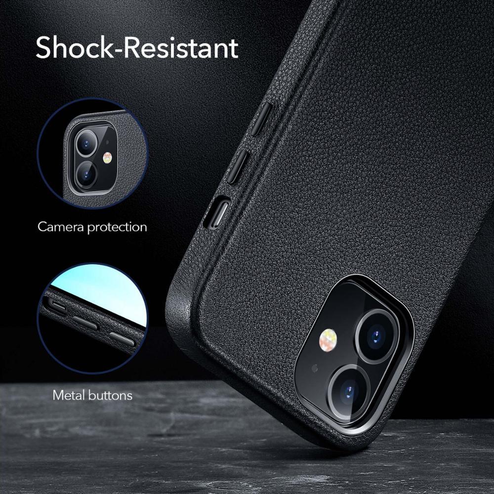 Esr Luxe Case Voor Iphone 12 Lederen Back Cover Voor Iphone 12 Mini 12 Pro Max Echt Lederen Business Case voor Iphone 12 4
