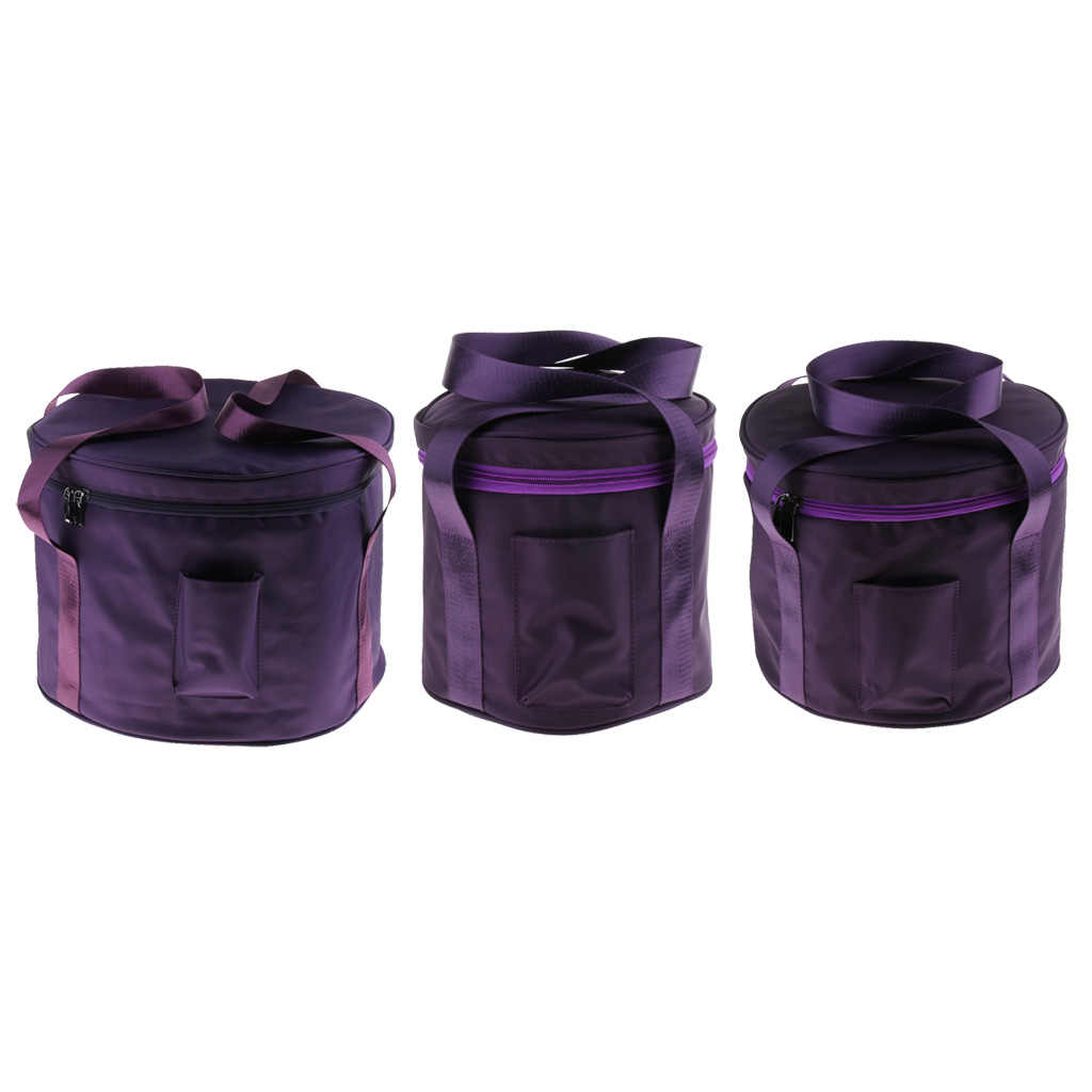 3pcs Thicken Carrier Case Bag for 6-14 Inch Crystal Singing Bowl