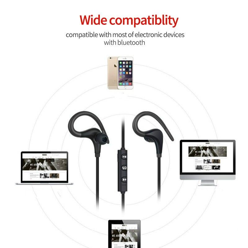 Беспроводные наушники, спортивные, для бега, Bluetooth наушники, свободные руки, бас, стерео, Bluetooth гарнитура с микрофоном для xiaomi, все смартфоны