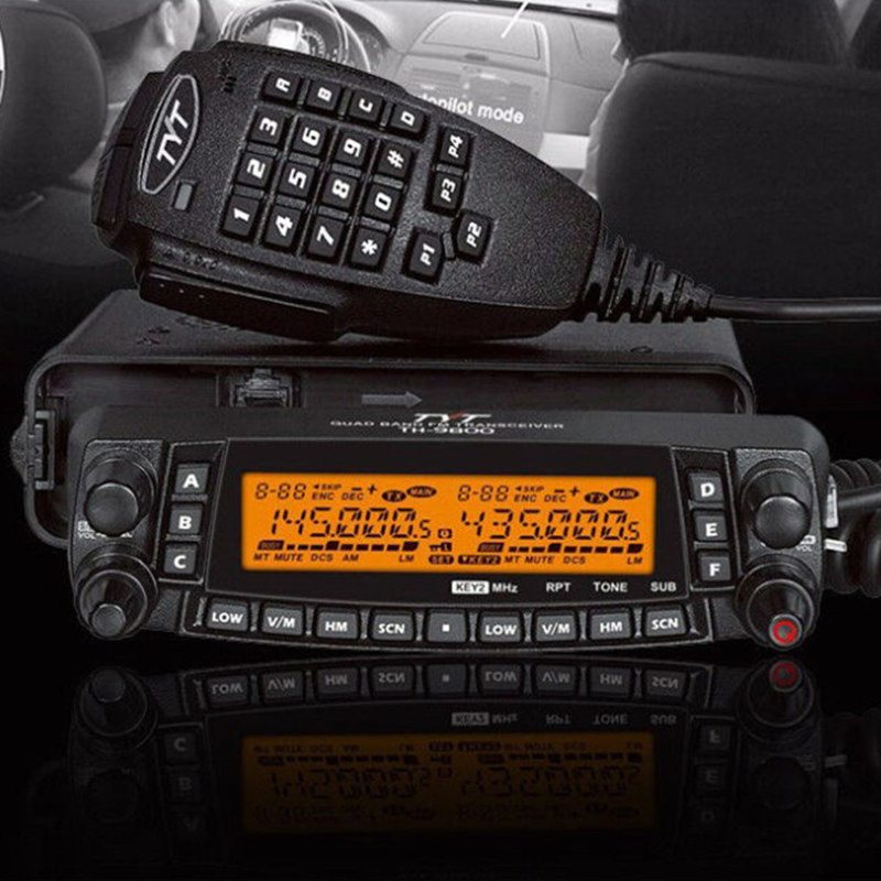Fast Car Radio Walkie talkie 50KM <font><b>TYT</b></font> <font><b>TH</b></font>-<font><b>9800</b></font> VHF 50W UHF 35W 800CH Quad Band <font><b>TH</b></font> <font><b>9800</b></font> Ham Radio HF Transceiver TH9800 CB Radio image