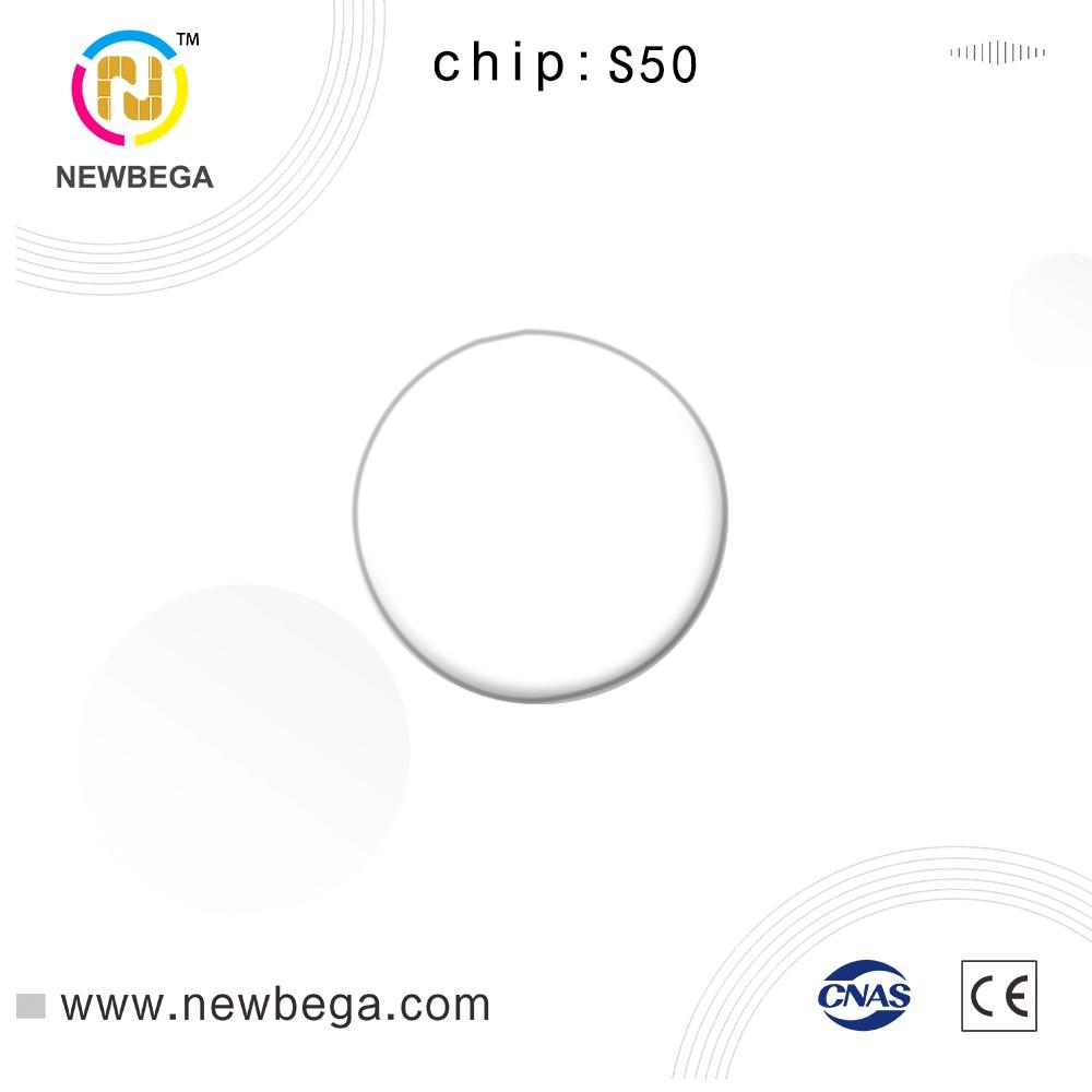 10PCS RFID Coin Card Chip S50 PVC Adhesive Coin Card Read And Write 125KHz NFC Tag