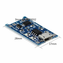 5PCS Blau 5V Micro USB 1A 18650 Lithium-Batterie Lade Board Converter Modul Tiefentladung Schutz Power Lade Bord(China)
