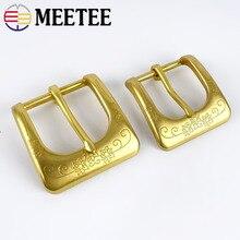 Meetee Solid Brass Metal Belt Buckle Men Women Belt Head for Belt Metal Pin Buckles DIY Leather Craft Jeans Accessories стоимость