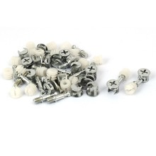 Fitting Cam-Lock Knock-Down Furniture 20-Sets Dowel-Nut-Assembly Connecting