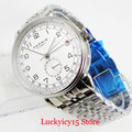 Модный популярный бренд PARNIS Дата 24 часа автоматические мужские часы SS браслет Круглый Чехол стекло