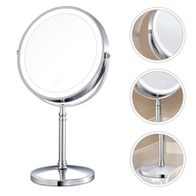 Rechargeable Mirror Tabletop Makeup Mirror 10X Magnifying Mirror with LED Light
