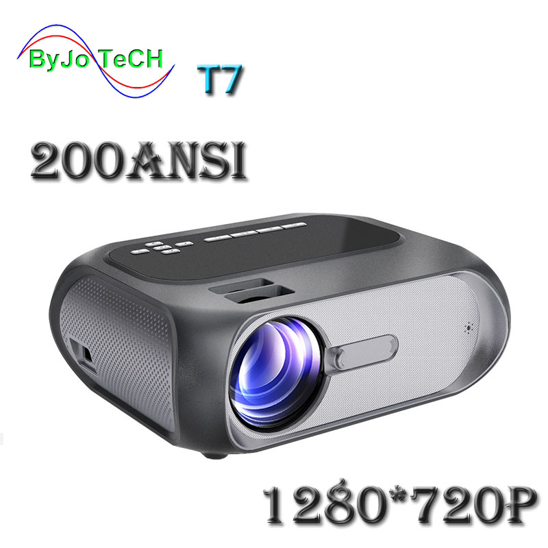 ByJoTeCH T7 FULL HD 1280x720 Home Theater LED 1080p proyector 200 ANSI versión multimedia y multipantalla interactiva opcional Para One plus 5T vidrio templado para OnePLus 3 3T Protector de pantalla 2.5D película de vidrio protectora completa para OnePlus 5 5T 1 + 5 t 6