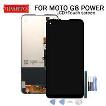 6.36 inç MOTO G8 güç LCD ekran + dokunmatik ekranlı sayısallaştırıcı grup 100% orijinal yeni LCD + dokunmatik Digitizer MOTO G8 güç