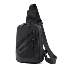 New Mens Casual Solid Color Shoulder Bag of The Multi-Function Diagonal Package Fashion Single Chest Bags