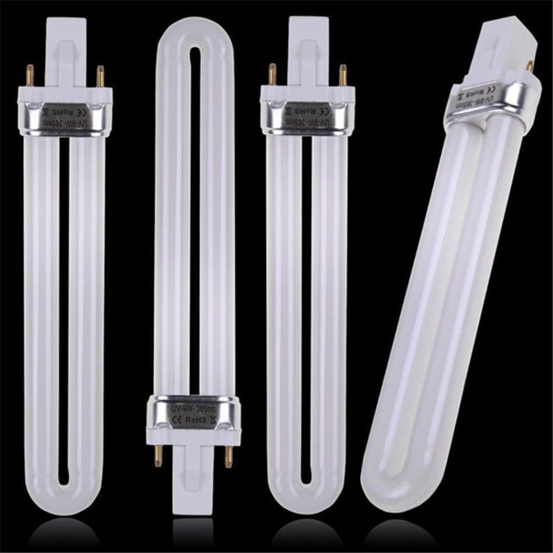 365nm Ultraviolet Lamps 9W Curing UV Gel Lamp Gel Nail Art Dryer Light Bulb Tube Replacement Hot Selling