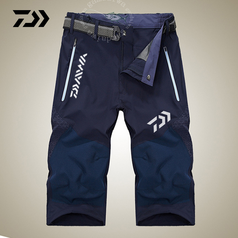 Summer Fishing Shorts Daiwa Clothes Men Outdoor Sport Cropped Trousers Breathable Nython Quick Dry Shorts Cycling Fishing Shorts