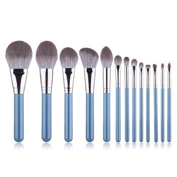 13Pcs Fashion High Quality Series Makeup Brush Set Blush Powder Eye Shadow Eyebrow Lip Brush Eye Patch Professional Makeup Tool