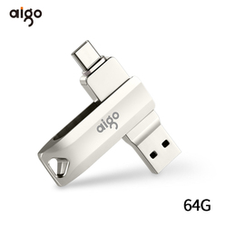 Aigo 64G usb 3.1 typu C pamięci usb high speed usb dla androida 360 ° obrotowy pen drive metalowe OTG flash pendrive jazdy pamięć usb