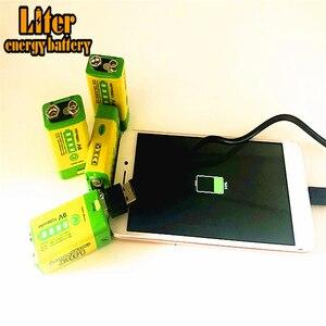 9V 6F22 USB 1200mAh Lipo перезаряжаемый литий-ионный аккумулятор + 9V светодиодный зарядное устройство для дымовой сигнализации Беспроводной микрофон...