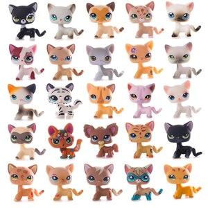 LPS-juguetes originales para mascotas, colección de juguetes para gatos, tienda de mascota pequeña, lps Old Standing Shorthair, gatitos, zorro, modelo de figura de acción, juguetes para niña