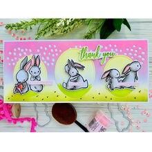 Металлические Вырубные штампы в виде кролика для рукоделия скрапбукинга