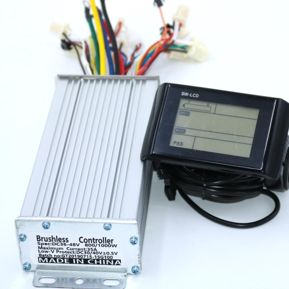 Contrôleur de moteur à courant continu sans brosse Greentime 36V 48V 800W 1000W 35A contrôleur Ebike + affichage de SW-LCD un ensemble