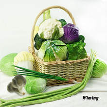 Home Decoration Photography Props cauliflower lotus root Cabbage mushroom cucumber Artificial fake Vegetables model