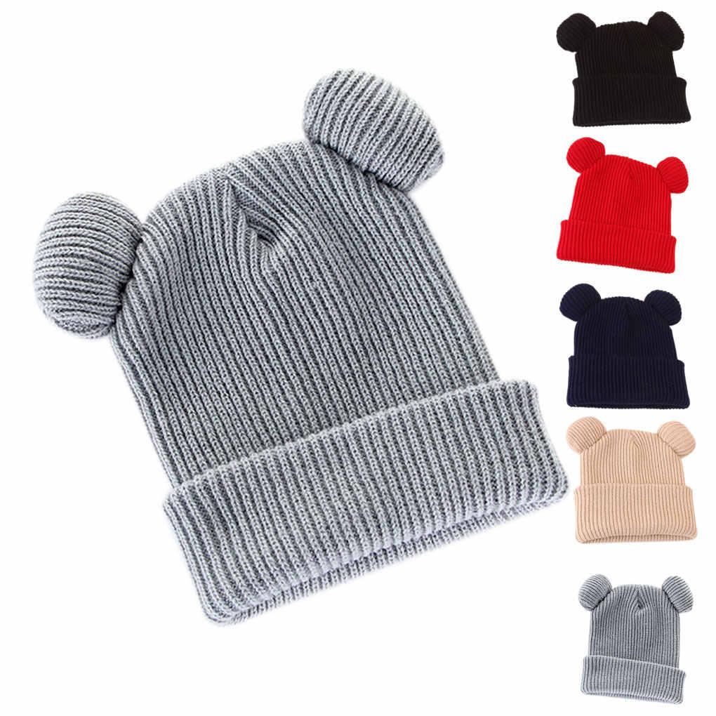 Vrouwen Gevlochten Mutsen Gebreide Muts Vrouwelijke Winter Caps Hoeden Voor Vrouwen Duivel Horens Oor Leuke Haak Gevlochten Knit Mutsen Bonnet