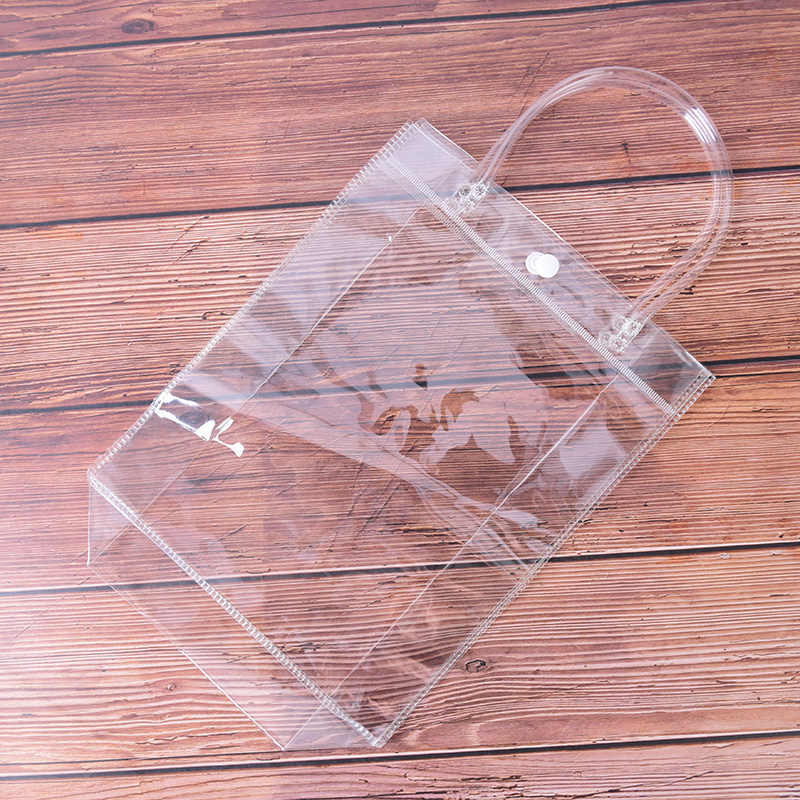 Kadın banyo yıkama makyaj Tote çanta durumda şeffaf şeffaf seyahat pvc kozmetik çantası makyaj kutusu çanta çanta