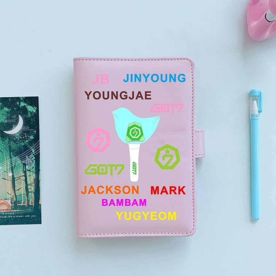 Kpop exo duas vezes dezessete got7 rosa caderno diy pocketbook note pads material escolar