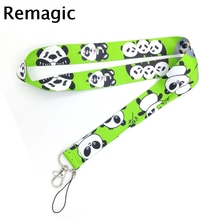 Cartoon panda cute kids couple funny Neck Strap Lanyards ID badge card holder keychain Mobile Phone Gifts